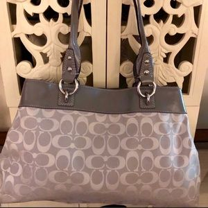 Authentic Coach Purse - Large Gray